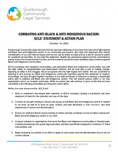 Statement and Action Plan